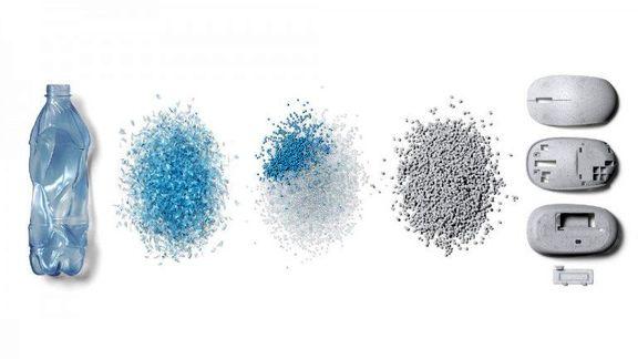 ساخت ماوس از پلاستیکهای بازیافتی اقیانوس توسط شرکتهای سابیک و مایکروسافت